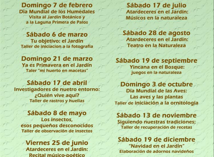 PROGRAMA ACTIVIDADES 2021                                                      JARDÍN BOTÁNICO DUNAS DEL ODIEL
